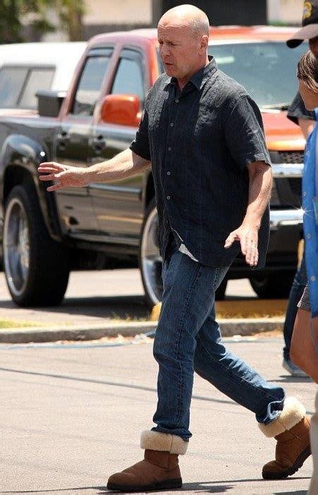 Kickers Ripet Up bruce willis pictured wearing ugg boots ugg collection