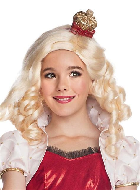 after high apple white wig