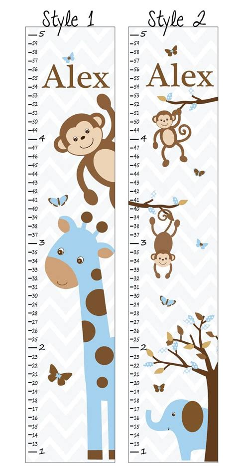 pattern for fabric growth chart personalized growth chart growth chart decal fabric