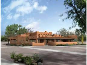 southwest style homes adobe house plan with 3838 square and 4 bedrooms from