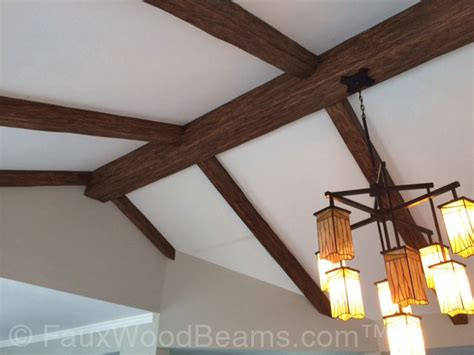 cathedral ceiling beams installing ceiling beams faux wood workshop