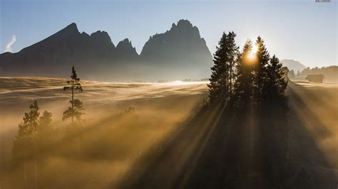 sunrise dolomites desktop pc  mac wallpaper