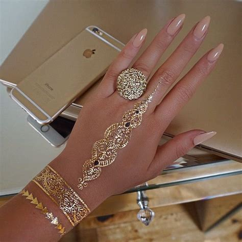 gold henna tattoo henna gold makedes