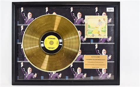On The Road Amenities Edition by Elton Limited Edition Goodbye Yellow Brick Road Gold Di