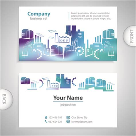 excellent business card templates human outline front and back free vector