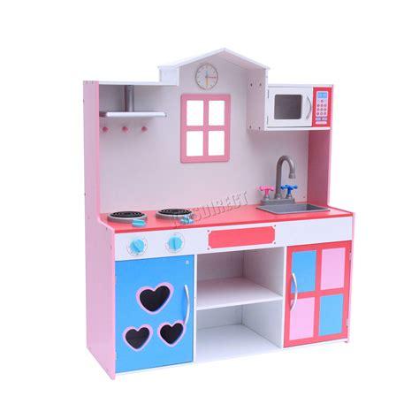 Kitchen Koper Pink Best Seller foxhunter large wooden kitchen playset children cooking play pink 5055418328432 ebay