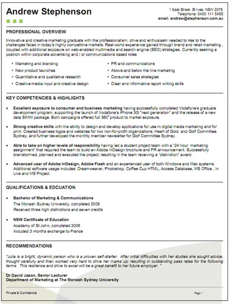 resume writing tips australia resume exle 55 cv template australia contemporary