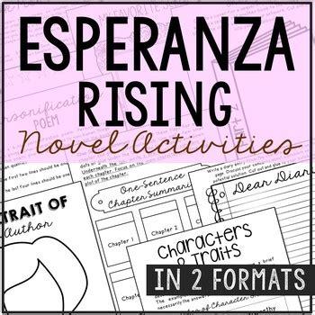 esperanza rising book report esperanza rising interactive notebook novel unit study