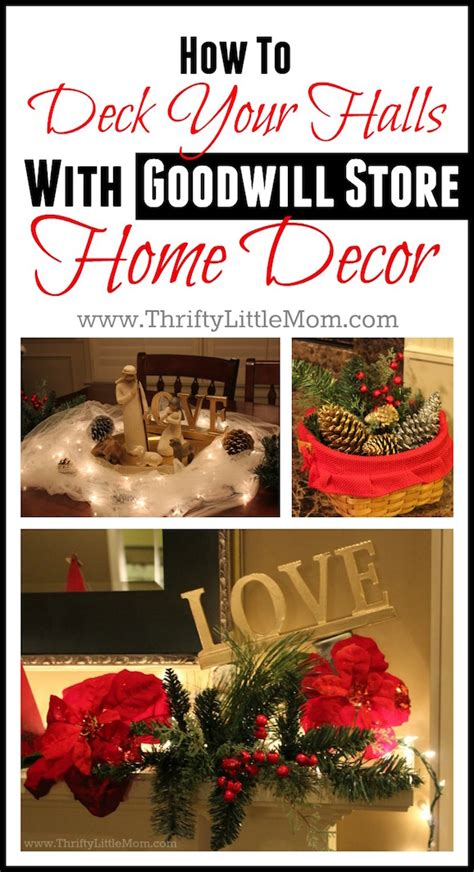 how to decorate your home from the goodwill and dollar deck your halls with goodwill store decor 187 thrifty little mom