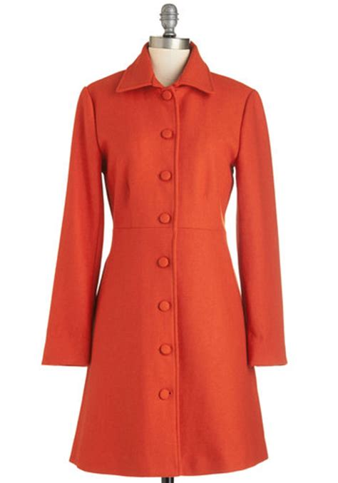8 Coats By Tulle Clothing by Tulle Clothing Pumpkin Patch Pose Coat Mod Retro Vintage