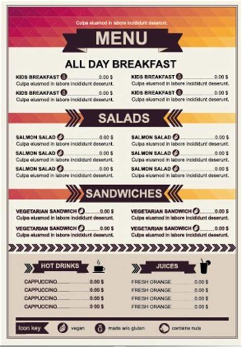 design menu price restaurant menu price list template vector 01 vector