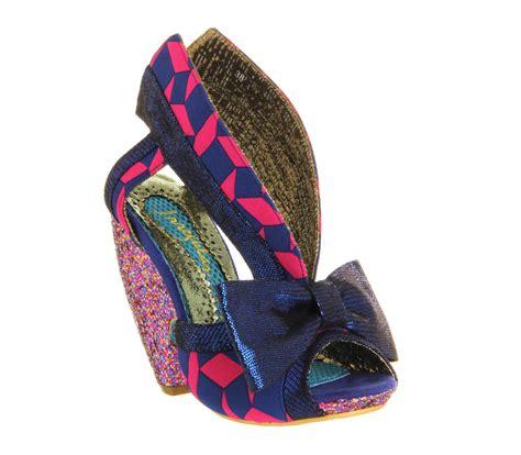 Multi Cut Out Vnc Heels irregular choice drusha peeptoe cut out blue pink multi