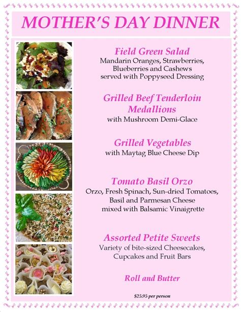 s day dinner menu ideas mothers day dinner the of entertaining the of