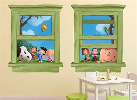 snoopy wall stickers snoopy and brown wall decals