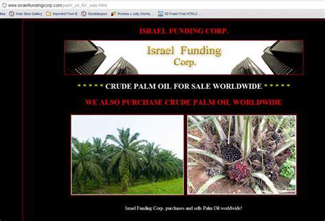 Eksport Minyak Kelapa Sawit perjuangan adalah perlaksanaan kata kata israel diberi