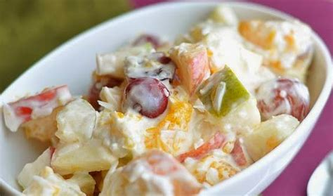Resep Membuat Salad Buah Keju | resep salad buah keju mayonnaise spesial segar mangcook com