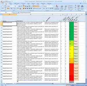 requirements spreadsheet template requirements tracking spreadsheet getprojecttemplates
