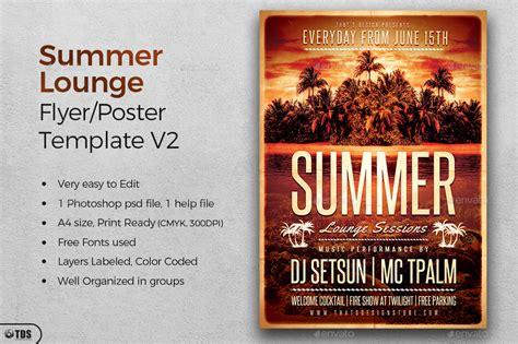 Summer Lounge Flyer Template V2 By Lou606 Graphicriver Flyer Template V2