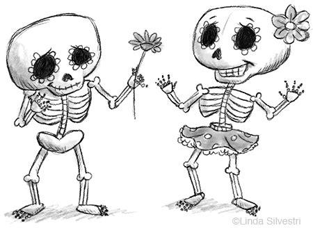 dia de los muertos skeleton coloring page dia de los muertos sketched out