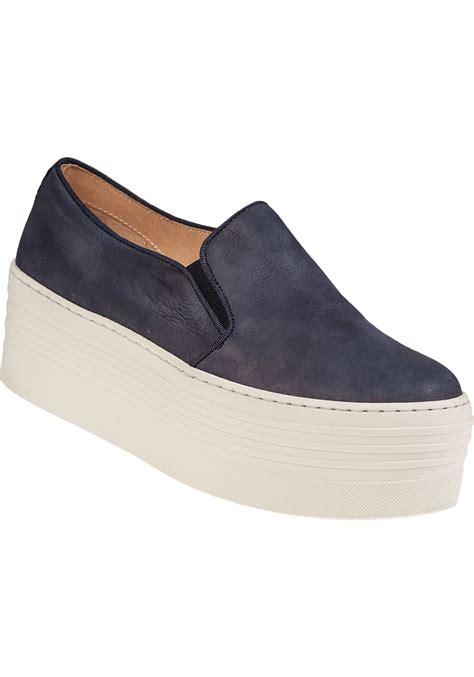steve madden sneakers lyst steve madden bellie platform sneaker navy suede in blue