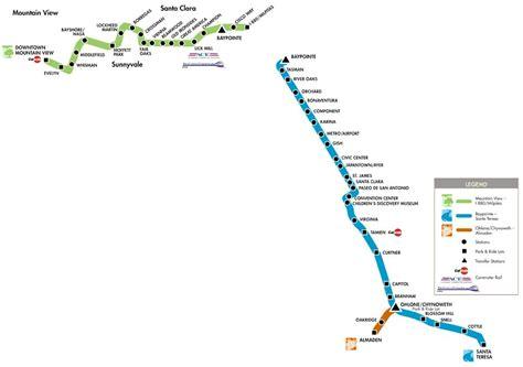 san jose light rail map san jose light rail map schedule 28 images rail lines