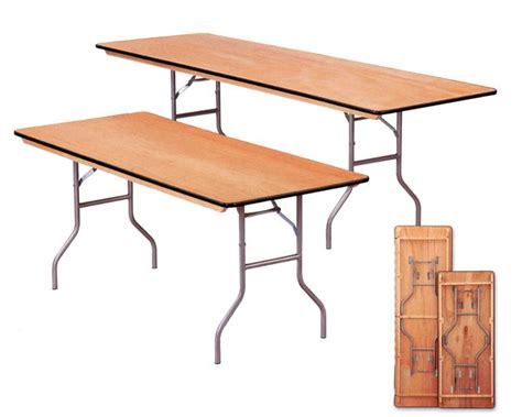 rent  wood top display table tables rentals