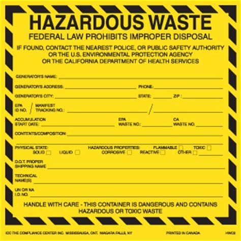 Hazardous Waste Labels For California 6 Quot X 6 Quot Thermalabel Blank Icc Us Online Store Free Hazardous Waste Label Template