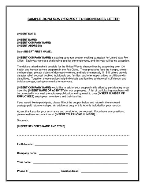 Fundraising Letter To Local Businesses Resume Skills Graph Worksheet Printables Site