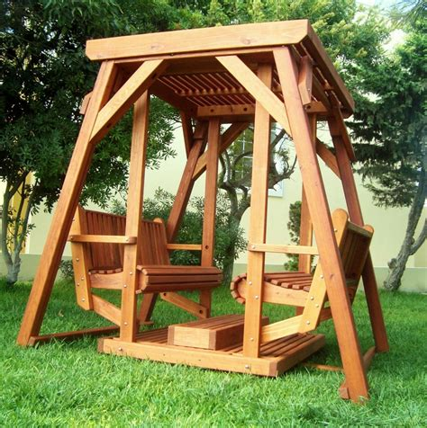 outdoor platform swing santa rosa face to face glider forever redwood