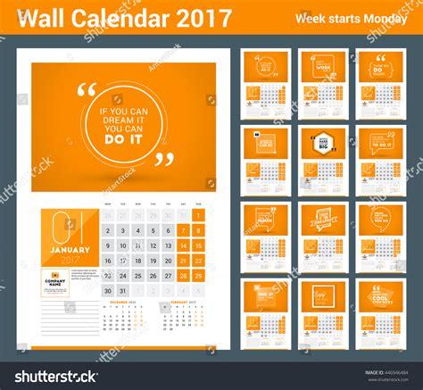 Poster Calendar 2017 Template