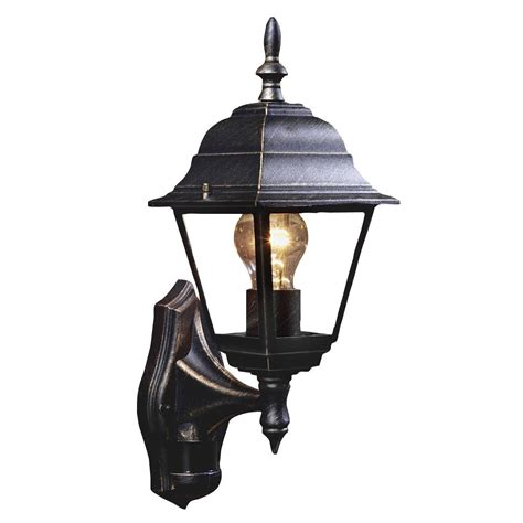 b q solar lights b q polperro antique effect black 60w mains powered