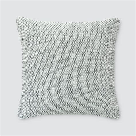 Grey Pillows - wool throw pillows grey tweed pattern the citizenry