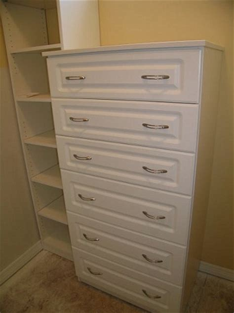 White Closet Dresser by Creative Closets Storage White Melamine 6 Drawer Dresser