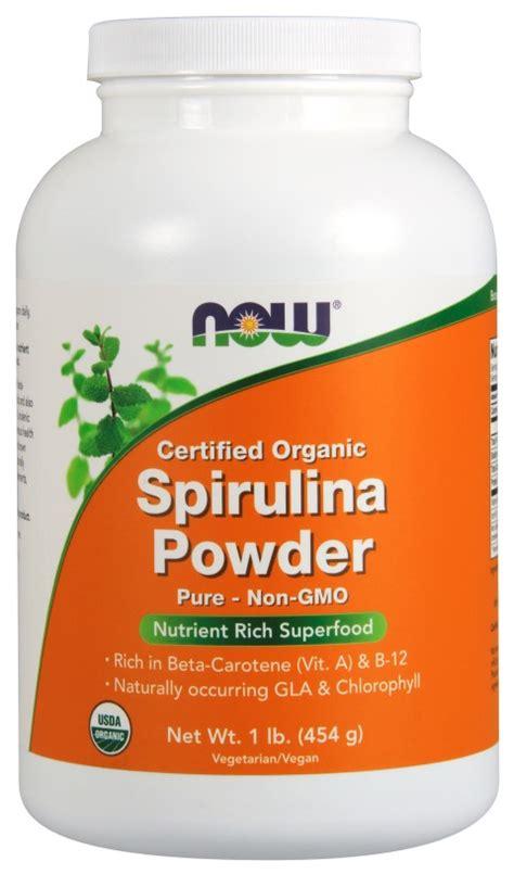 Kliquid Organic Spirulina now foods spirulina powder certified organic 1 lb