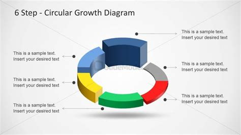 4 step circular growth diagram for powerpoint slidemodel 6233 06 6step circular growth diagrams 2 slidemodel