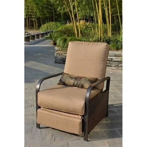 patio furniture recliner woven outdoor recliner beige walmart com