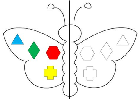 interactive pattern activities for reception symmetrical butterflies activity and plan by teach 92 uk