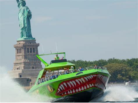 speed boat around statue of liberty the beast speedboat adventure new york tours activities