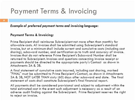 sle invoice verbiage invoice payment terms and conditions exle beautiful 19