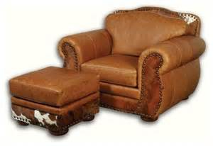 western leather chair with hair on hide southwestern