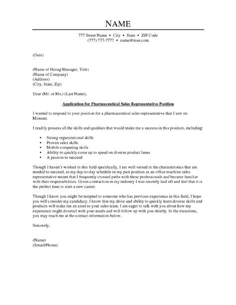 pharmaceutical sales rep cover letter search results for application letter for