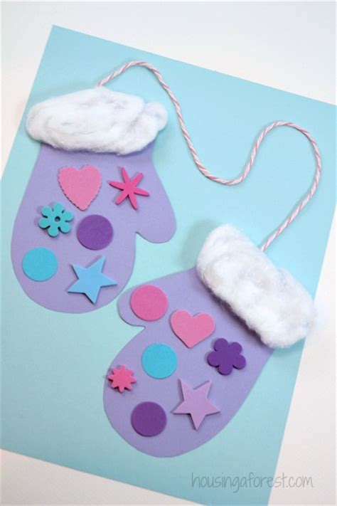 crafts winter winter mitten craft for preschoolers housing a forest