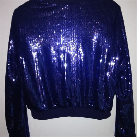 new year jacket 75 h m jackets blazers new years blue sequined