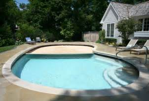 Glencoe free form pool with auto cover traditional pool chicago