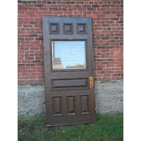 Pine Exterior Door Antique Pine Beveled Glass Exterior Door