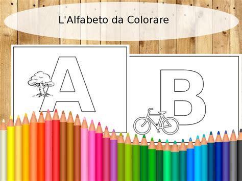 alfabeto italiano con lettere inglesi didattica alfabeto con parole inglesi da colorare