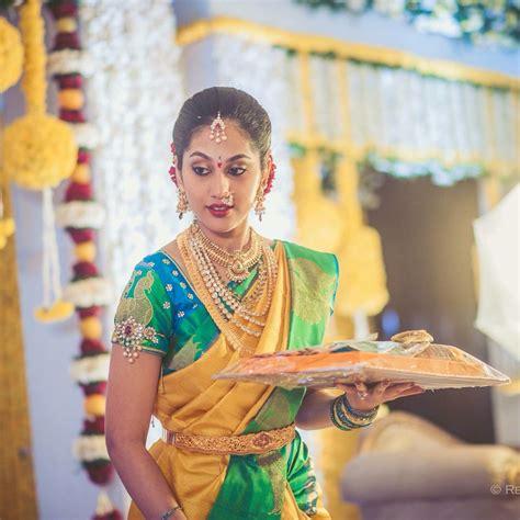 on pinterest saree blouse south indian bride and bridal sarees bridal jwelery bridal jewelry pinterest saree south