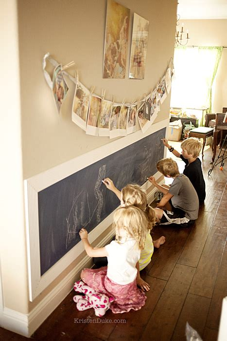 beautiful Vintage Living Room Ideas #5: kids-writing-on-chalkboard-wall.jpg