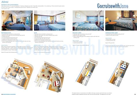 P O Cruise Ship Oriana Cabins by P O Cruises 2012 2013 Deck Plans