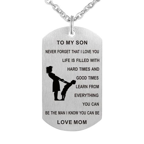 to my tag to my never forget i you tag necklace pendant gift ebay